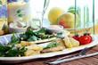 fresh fish and salad dinner