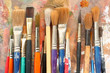 Quadro art paint brushes & palette