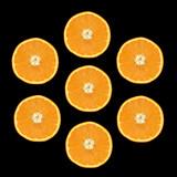 seven orange slices poster