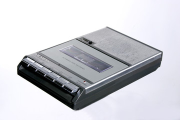 retro cassette tape recorder