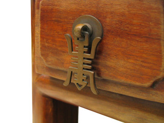vintage asian style wood drawer