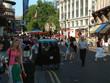 innenstadt leben londons - verkehr - touristen
