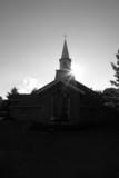 wedding chapel silhouette poster