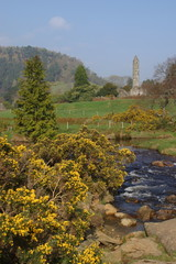 glendasan river and the round tower