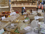 variety of cheeses and wines poster