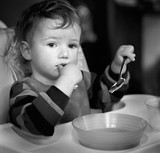 the child who has reflected during meal poster