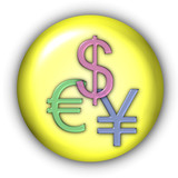 currency icon - dollar, yen, euro poster