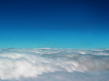 clouds from plane 2 poster