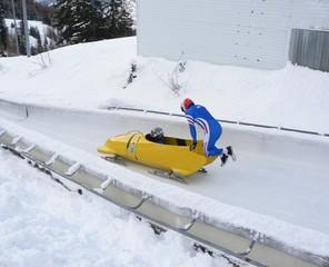 saut dans le bobsleigh