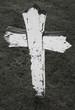 dilapidated wooden cross