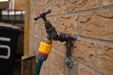 garden tap and hose