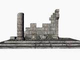 greek ruins - copy space poster