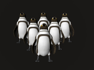 penguins on point
