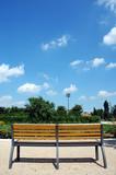 banc, parc de gerland (lyon, france)