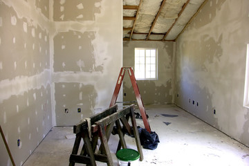 room remodel with new sheetrock - drywall