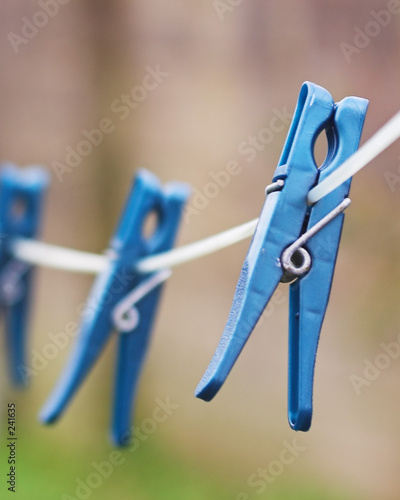 blue cloth pegs