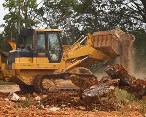 big dozer working