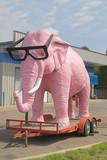 pink elephant poster