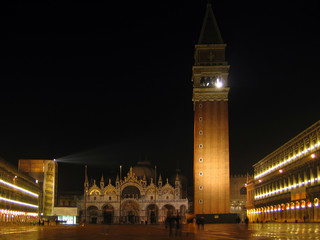 san marco square at night