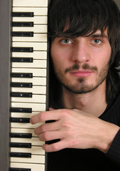 musician with keyboard