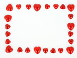 frame of heart shapes poster