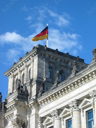 german flag reichstag
