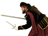 scottish warrior with sword and dagger poster