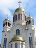 cathedral in the names of all saints. russia poster