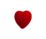 red heart clipping path poster