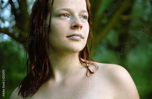 poster of smooth skin, wet hair