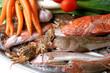 pescado y verdura