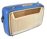 retro radio (blue) poster