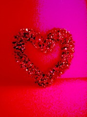 pink & red heart