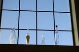 bottles in a window 2 poster