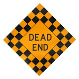 dead end sign poster