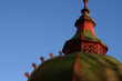 green and red dome