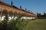 italian abbey garden poster