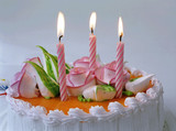 candles on birthday cake poster