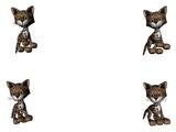leopard kitties - copy space poster