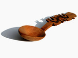 romanian wooden spoon-with shadow poster