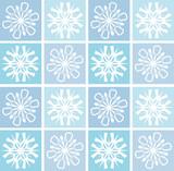 retro snowflakes poster