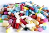 tas de medicaments poster