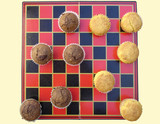 muffin checkers set poster