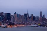 new york at dusk poster