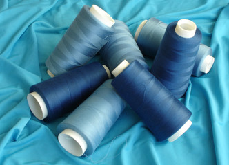 pool of blue spools