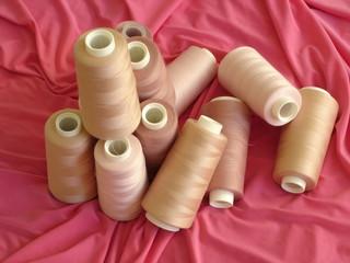 pinkish spools