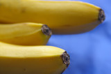 bananas on blue poster