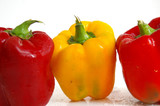 fresh bell peppers poster