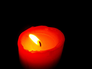 candle in night