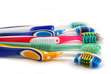 colorful toothbrushes poster